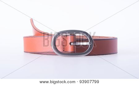 brown belts fashion on background