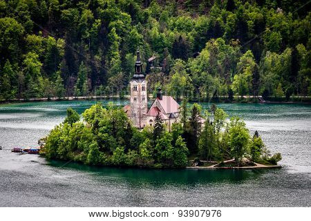 Bled lake and his surrounding