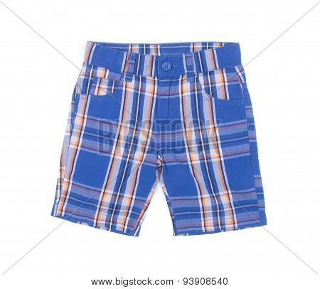 Pant's. Child's Shorts Pant's On A Background