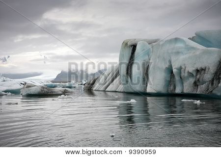 Ice Rock Iceland Sea Coast