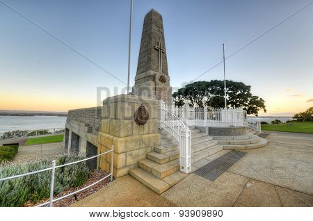 Kings Park War Memorial At Sunset