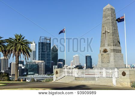 Cenotaph Of The Kings Park War Memorial In Perth