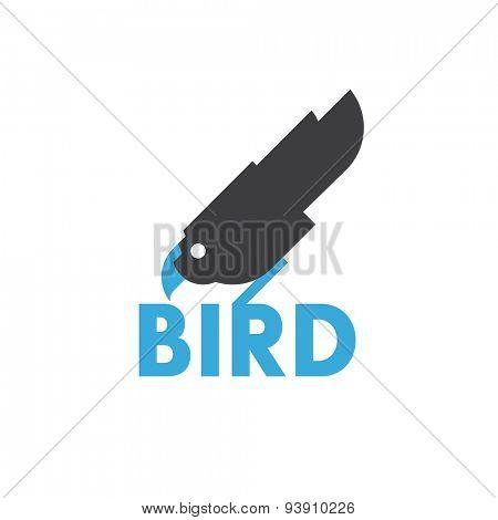 modern bird sign