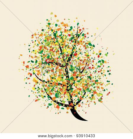 Colorful Buoyant Tree