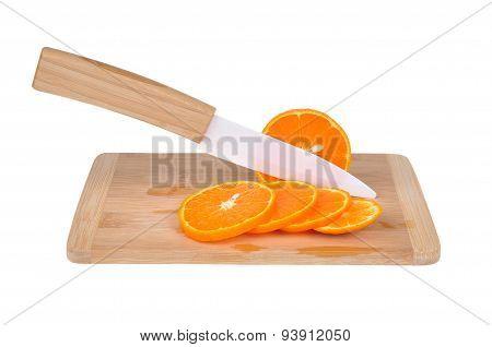 Ceramic Knife And Orange Tangerine