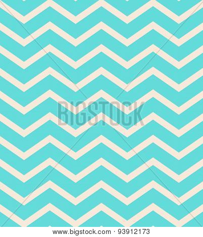 turquoise gradient chevron seamless pattern background vector.