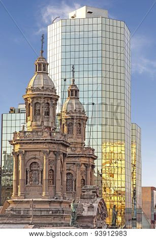 Historic And Modern Buildings, Santiago De Chile.