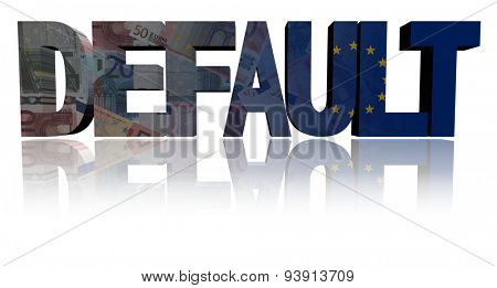 Default text with European Union flag and euros illustration
