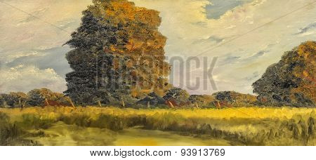 Beautiful original Landscape Oil On Canvas Painting
