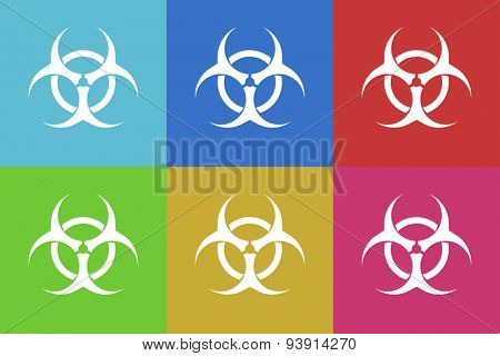 biohazard flat design modern vector icons set for web and mobile app