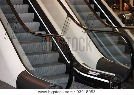 The Escalator In Shopping Center