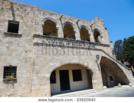 Municipal Art Gallery In The City Of Rhodes, Greece