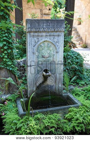 Ottoman Fountain In Rhodes, Greece