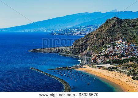 View To Santa Cruz City And Beach