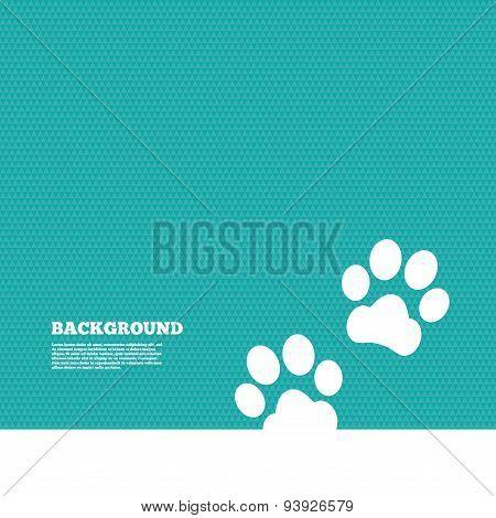 Paw sign icon. Dog pets steps symbol.