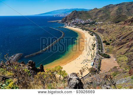 Beach Las Teresitas In Santa Cruz. Tenerife, Spain