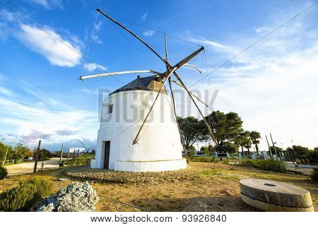 Old Windmill In Vejer De La Frontera, Andalusia, Spain.
