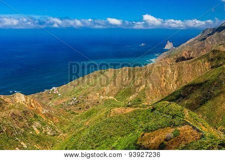 Coast Of Atlantic Ocean With Mountain