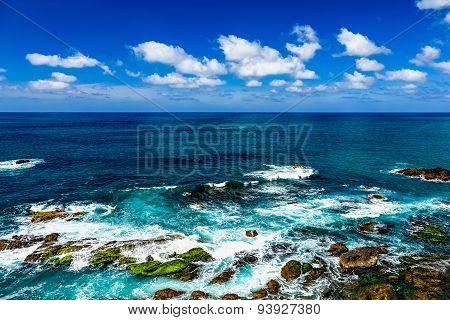 Stone Shore Of Atlantic Ocean