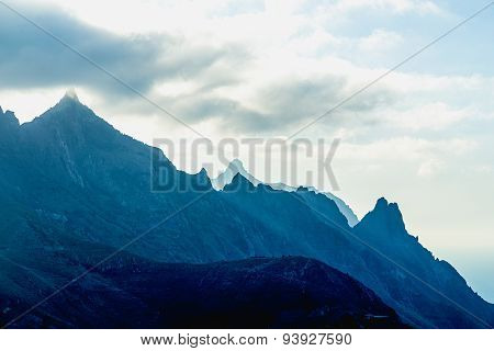 Rocks With Clouds