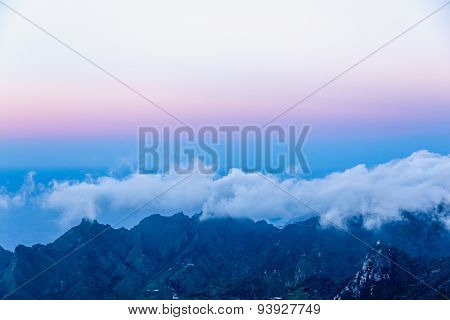 Landscape With White And Blue Clouds