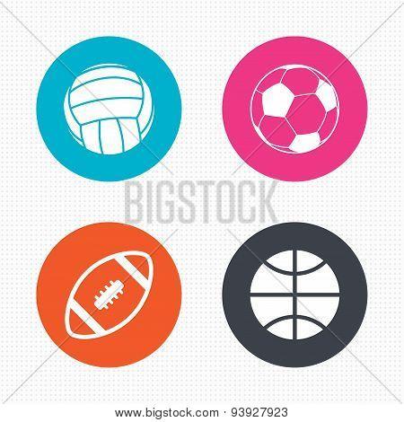 Sport balls. Volleyball, Basketball, Soccer.
