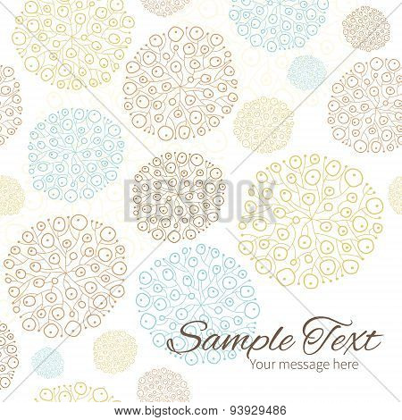 Vector blue brown abstract seaweed texture frame corner pattern background