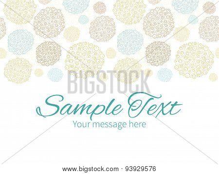 Vector blue brown abstract seaweed texture horizontal border greeting card invitation template