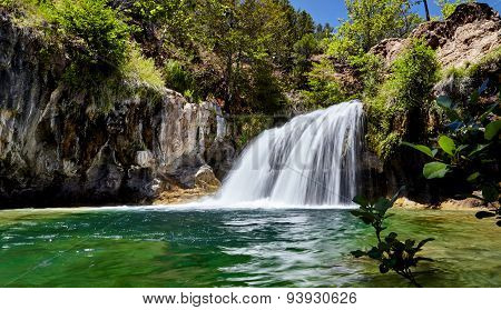 Waterfall at Fossil Creek Arizona