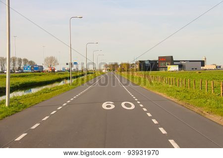 The Road On The Outskirts Of Meerkerk, Netherlands