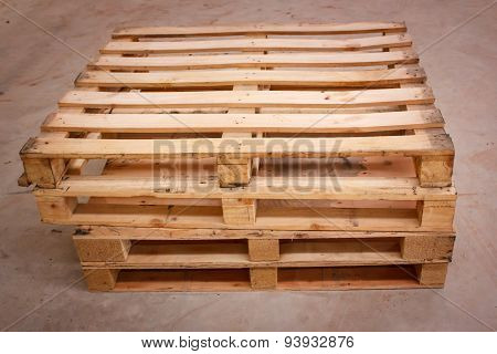Wooden Shipping Pallet In Standard Dimensions.