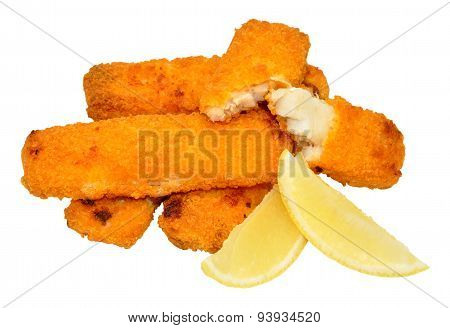 Cooked Breadcrumb Coated Fish Fingers
