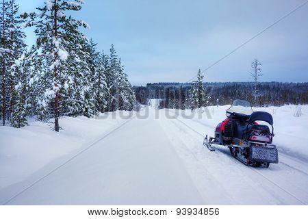 Finnish snowy lanscape