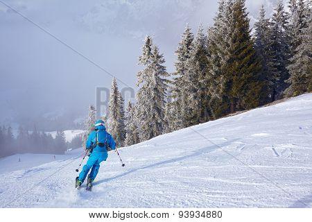Mountain ski resort.