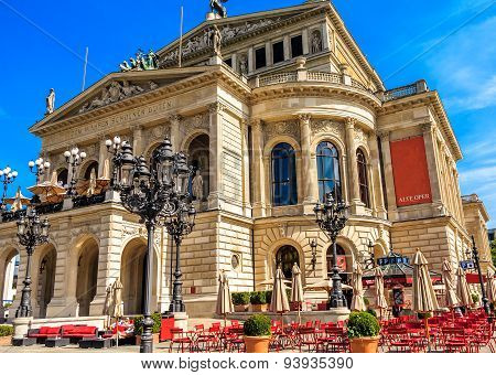 Famous Opera House in Frankfurt am Main