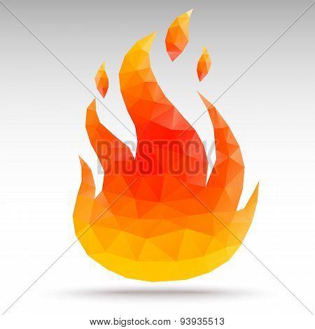 Fire Polygonal Geometric