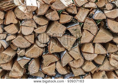 Lots Of Stacked Firewood
