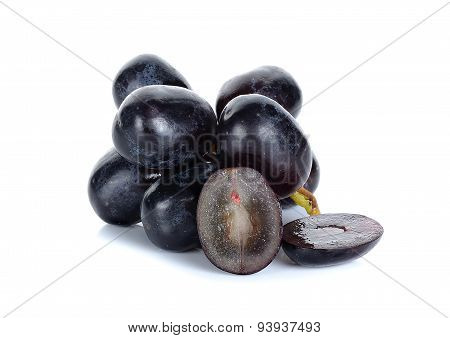 Grape Isolated On The White Back Ground
