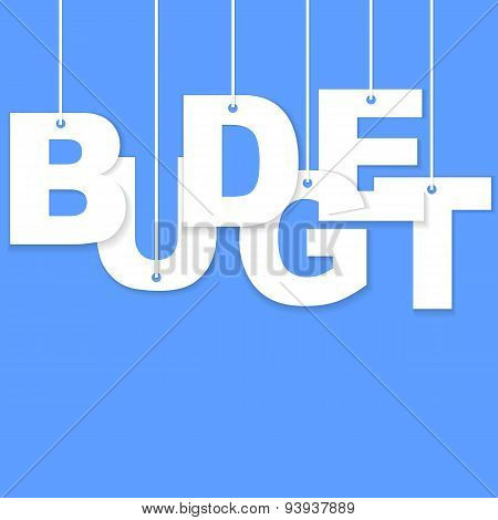 3d Budget paper cut word
