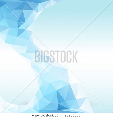 Crystal Ice polygon art background
