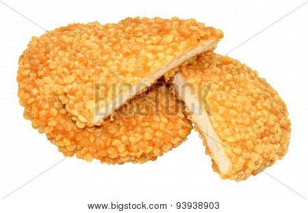 Puffed Rice Chicken Burgers