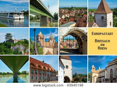 Postcard With Images Of Breisach