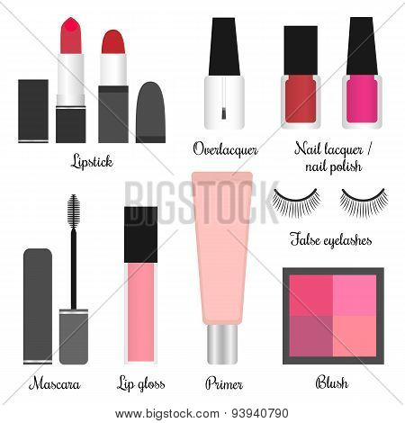Cosmetics Set For A Make-up