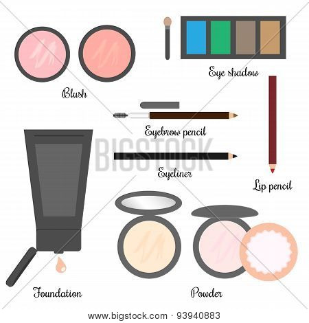 Cosmetics Set For A Make-up 2