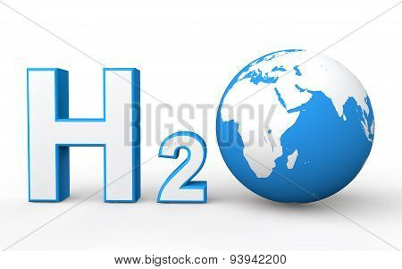 H2O with Earth globe
