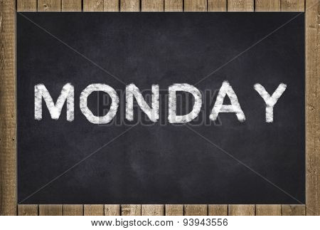 monday - text on chalkboard