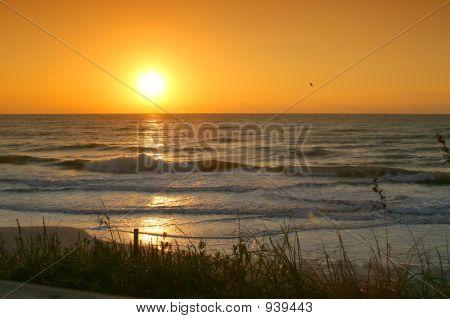 Reflexões do nascer do sol