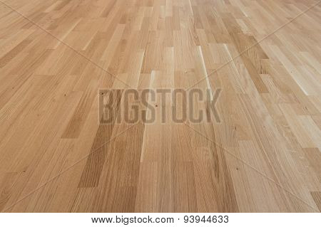 wooden floor - oak laminate / parquet