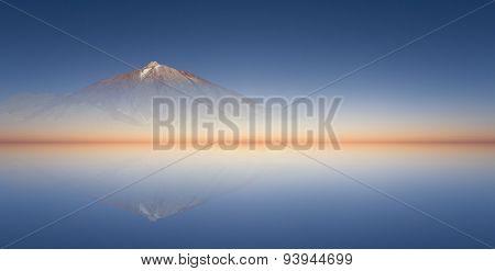 sunset horizon - mountain landscape