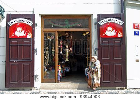 Puppet shop, Prague.